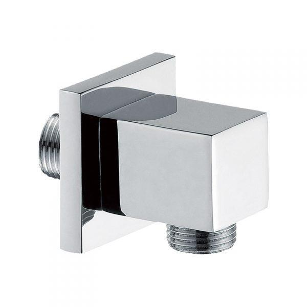 Square Chrome Wall Outlet