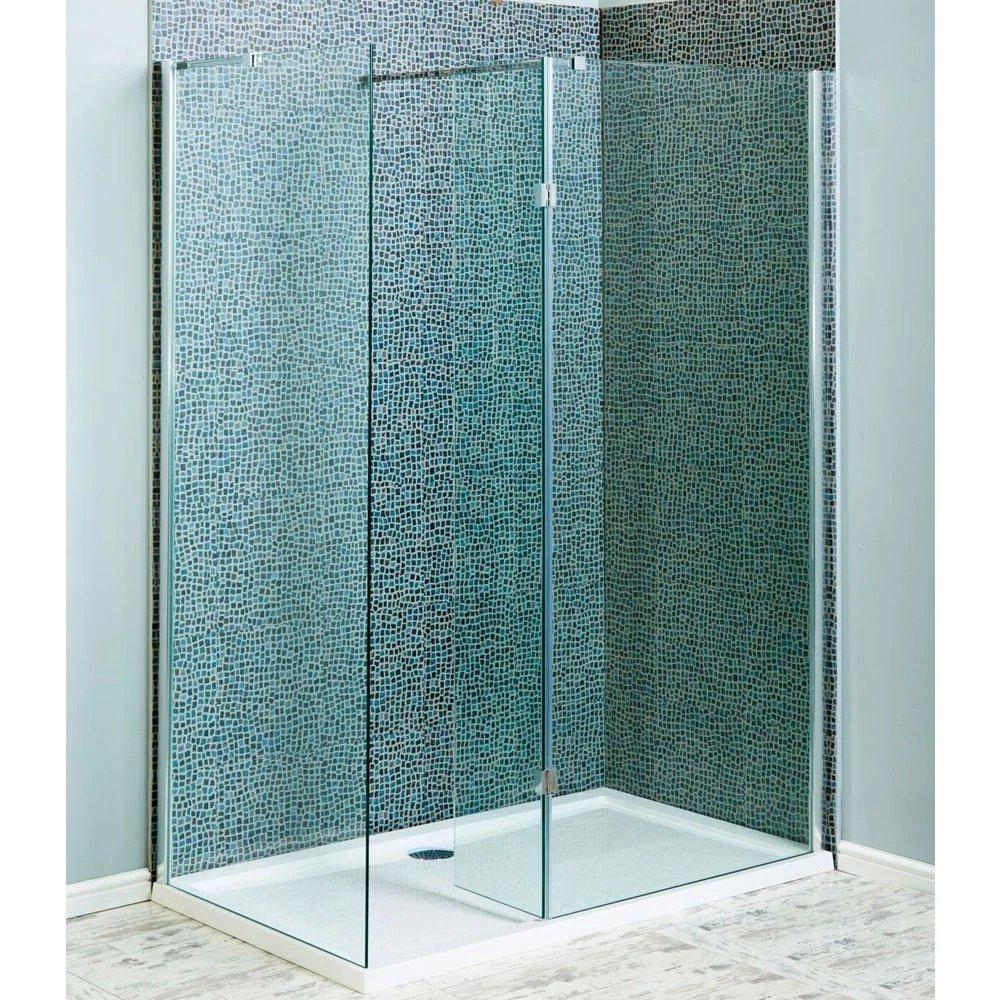 Cassellie Marna Easy Clean Wet Room Glass Single Panel Only 900mm Wide - 8mm Glass