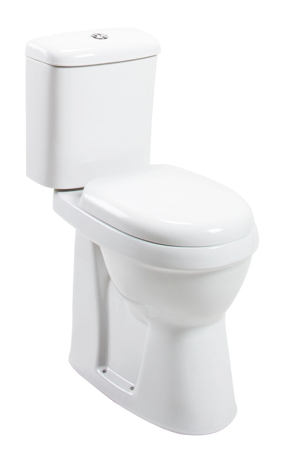 Cassellie Listra Comfort Height Close Coupled Toilet - Push Button Cistern - Soft Close Seat