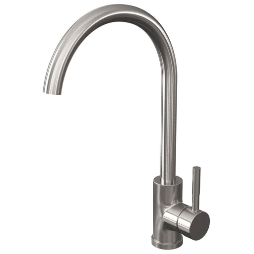 Cassellie Classic Single Lever Mono Kitchen Sink Mixer - Brushed