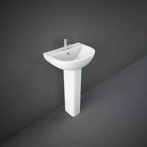 RAK Compact Basin & Full Pedestal 450mm Wide 1 Tap Hole