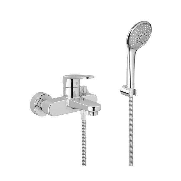 Grohe Europlus Bath Shower Mixer Tap with Kit Wall Mounted - Chrome ...