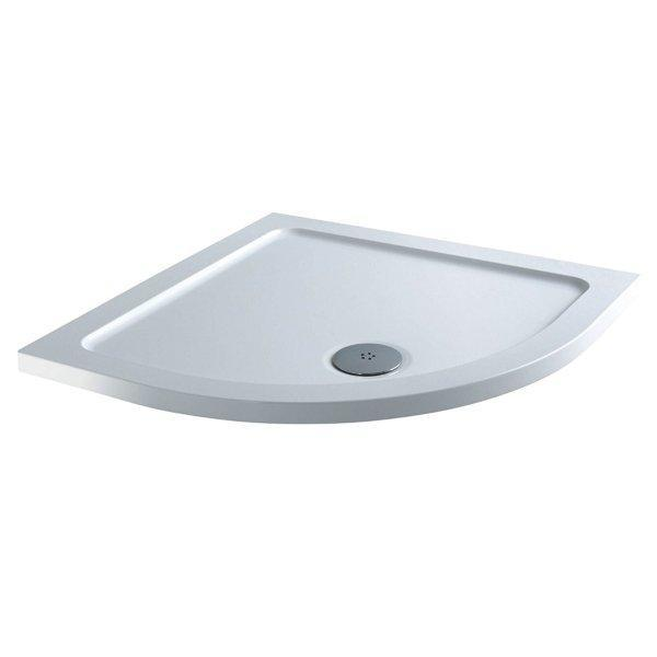 Cassellie C-Series Quadrant Shower Tray with Fast Flow Waste - 900mm x 900mm - Stone Resin