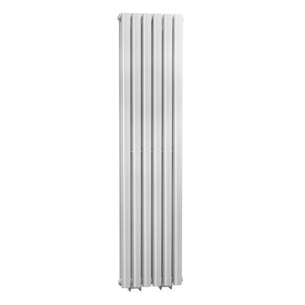 Cassellie Celsius Double Panel Designer Vertical Radiator - 1500mm High x 354mm Wide - White