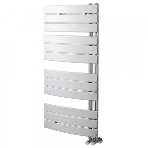 Essential ARIES Towel Warmer, Flat Panels, 1380mm High x 550mm Wide, Chrome