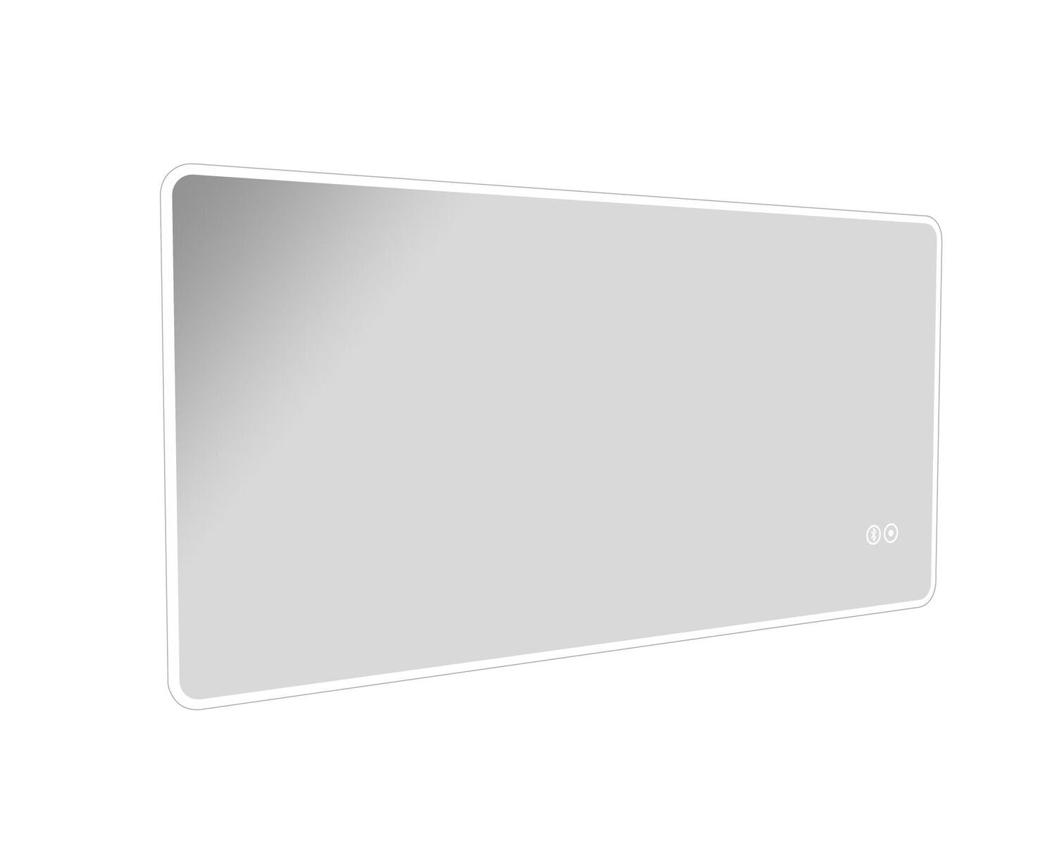 Cassellie LED Mirror with Touch Sensor, Demister & Bluetooth - 1200 x 600mm