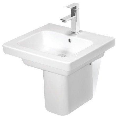 RAK Resort Wash Basin & Semi Pedestal 500mm Wide 1 Tap Hole
