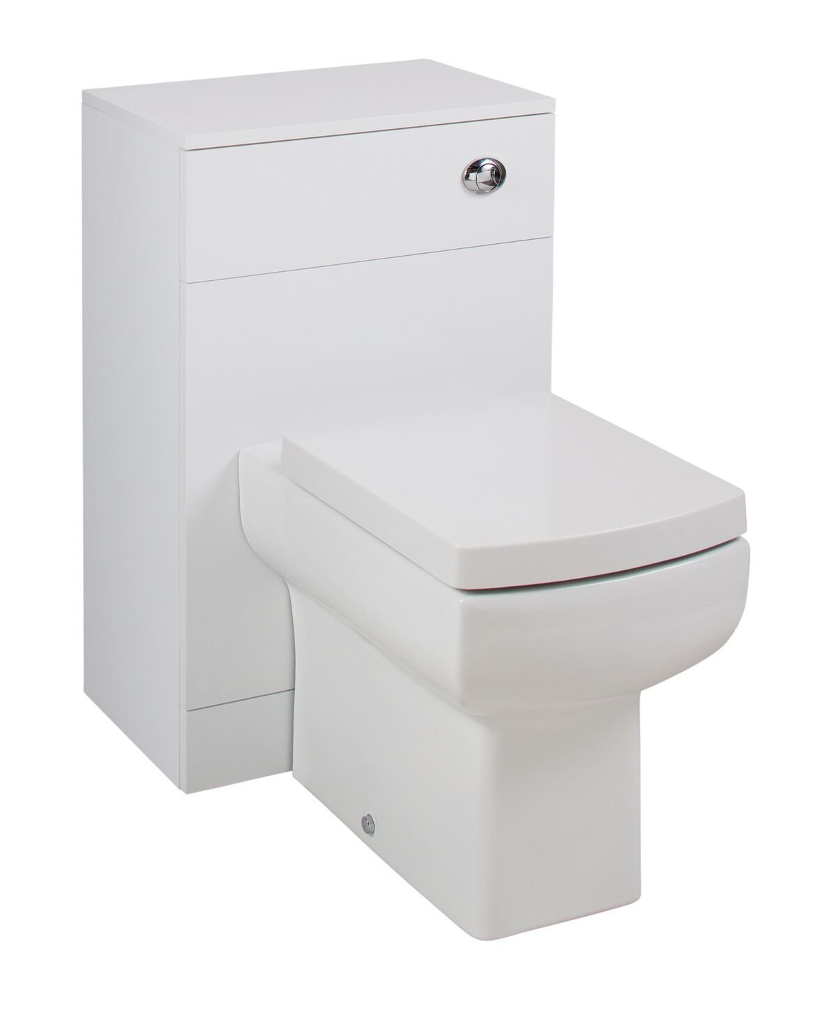 Cassellie Kass WC Unit with Daisy Lou Back to Wall Pan & Seat - 500mm Wide x 820mm Deep - White