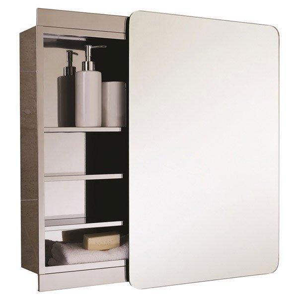 RAK Slide Single Cabinet with Sliding Mirrored Door 700mm H x 500mm W