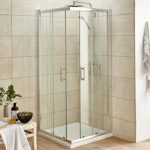 CLEARANCE Premier Pacific Corner Entry Shower Enclosure, 900mm x 900mm, 6mm Glass