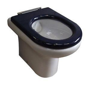 RAK Compact Special Needs Seat in Blue For Close Coupled and Back-To-Wall - Excludes lid