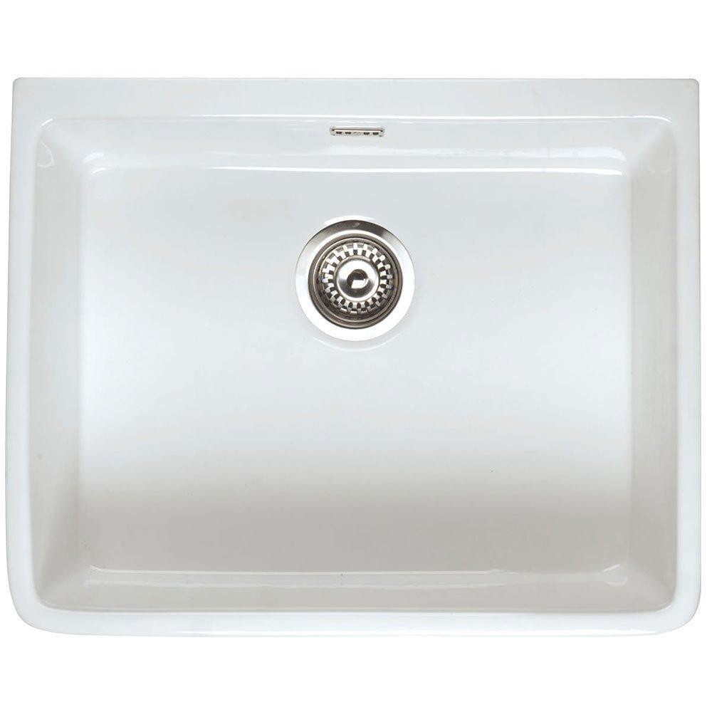 RAK Gourmet 2 Ceramic Belfast Kitchen Sink 1.0 Bowl - White