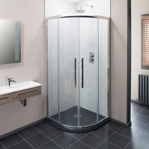 Cassellie Ocho Quadrant Shower Enclosure - 900mm x 900mm - 8mm Glass