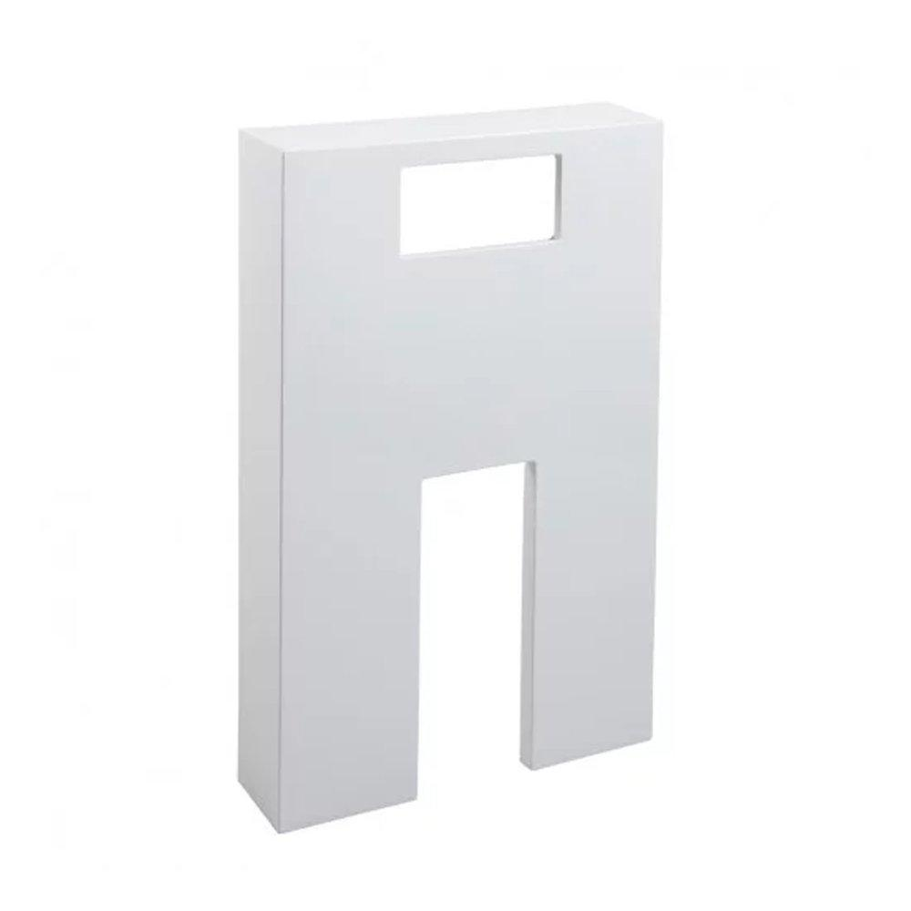Cassellie Polymarble Shroud WC Unit - 500mm Wide - Gloss White