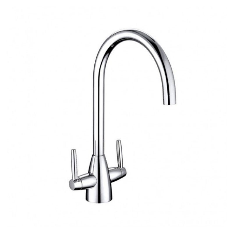 Cassellie Classic Dual Lever Mono Kitchen Sink Mixer Tap - Chrome
