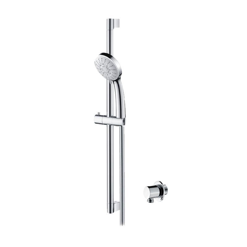 Abacus Emotion Round Vari Shower Rail Kit With Round Wall Outlet