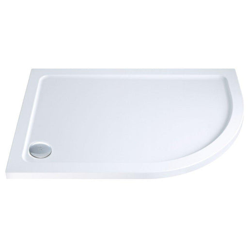 Cassellie C-Series Offset Quadrant Shower Tray with Waste Right Handed 1200mm x 900mm - Stone Resin