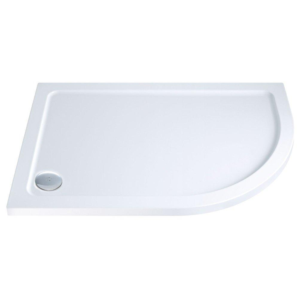 Cassellie C-Series Offset Quadrant Shower Tray with Waste Right Handed 1000mm x 800mm - Stone Resin