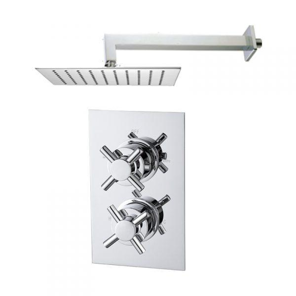 Abacus Emotion Thermostatic Cross Shower & Square Overhead
