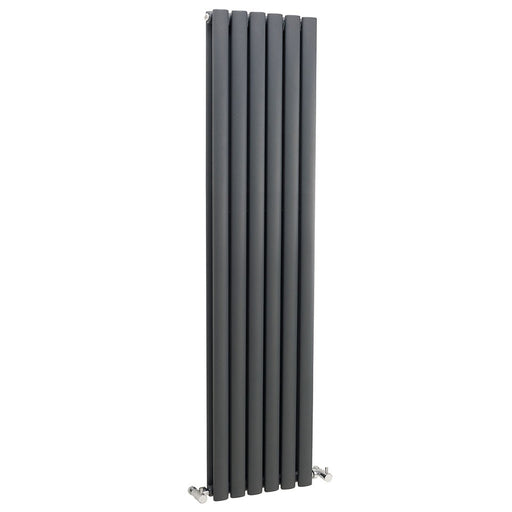 CLEARANCE Hudson Reed Revive Double Designer Vertical Radiator 1500mm H x 354mm W Anthracite