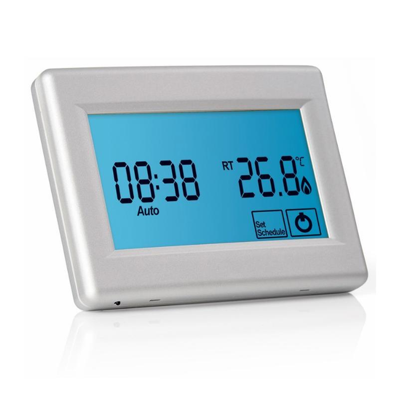 Abacus Essentials Digital Touchscreen Thermostat for Underfloor Heating - Silver ATUH-TC01-0015