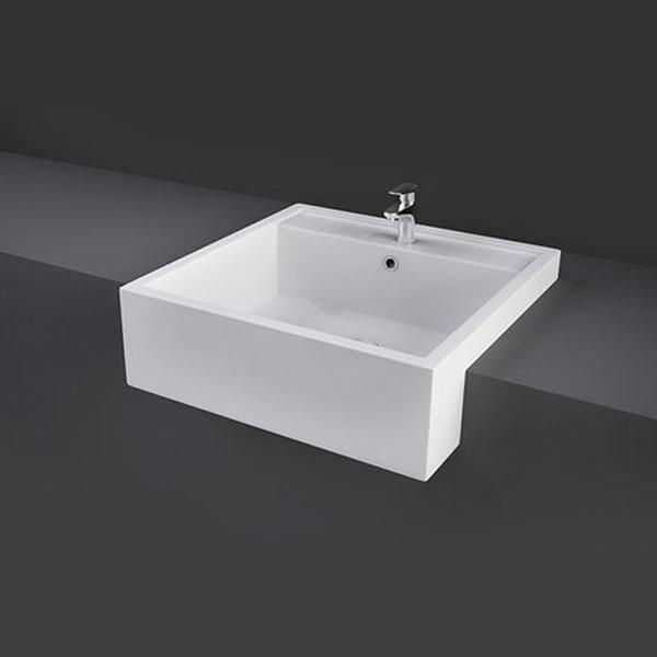 RAK Nova 460mm Semi Recessed Basin - 1 Tap Hole - White