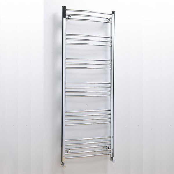 Cassellie Hayle Curved Heated Towel Rail - 1000mm x 600mm - Chrome