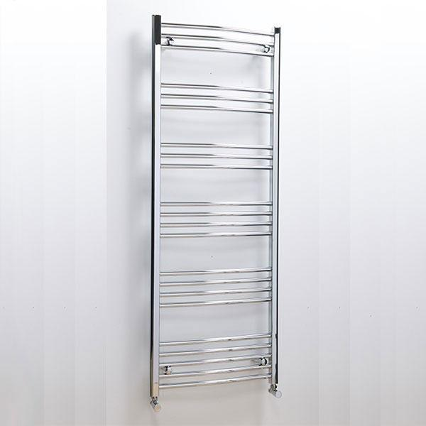 CLEARANCE Cassellie Hayle Curved Heated Towel Rail - 1600mm x 600mm - Chrome