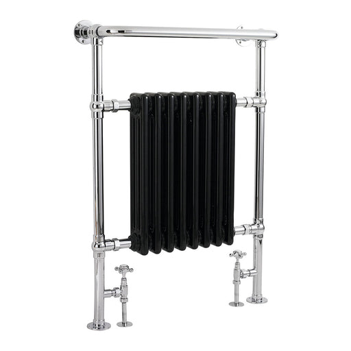 CLEARANCE Hudson Reed Marquis Radiator Heated Towel Rail 960mm H x 675mm W Chrome/Black