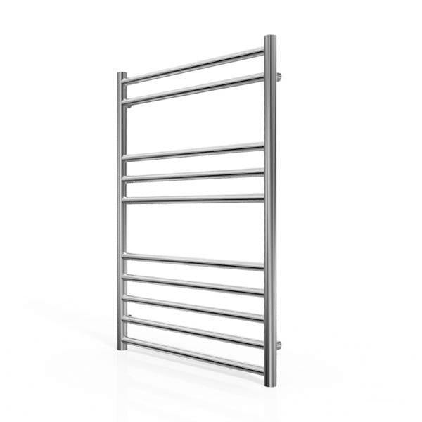 Cassellie Luxe Designer Heated Towel Rail - 800mm x 600mm - Chrome