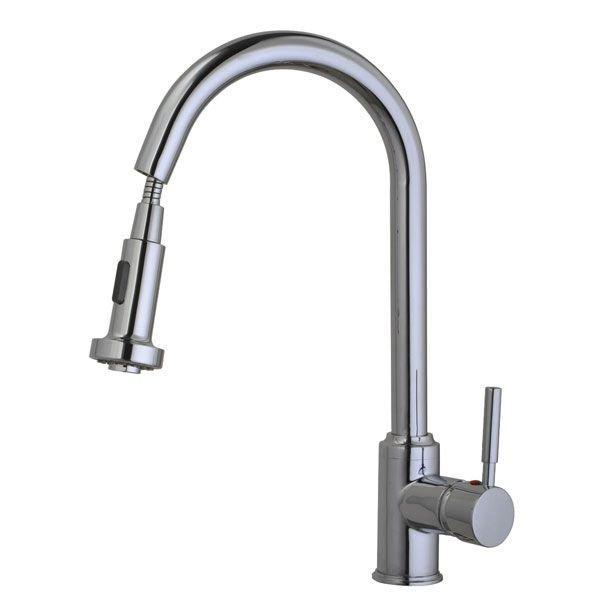 Cassellie Kitchen Sink Mixer Tap - Pull Out Rinse Spray - Chrome