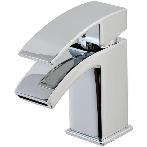 Cassellie Peak Mini Mono Basin Mixer Tap with Click-Clack Waste - Chrome