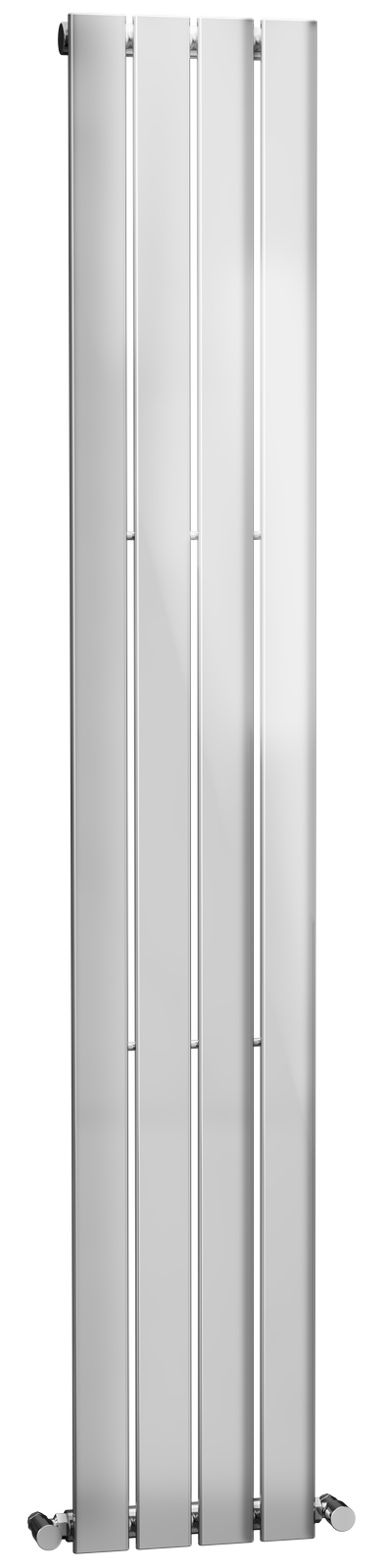 Cassellie Motif Vertical Designer Radiator - 1800mm x 300mm - Chrome