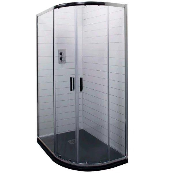 Cassellie Seis Offset Quadrant Shower Enclosure - 900mm x 760mm - 6mm Glass