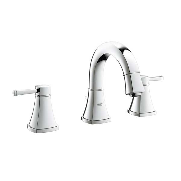 Grohe Grandera Basin Mixer Tap With Pop Up Waste - 3 Tap Hole - Chrome