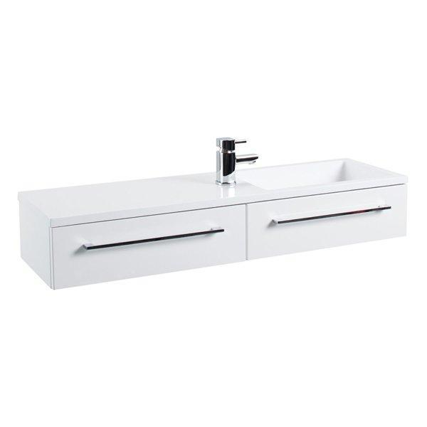 Cassellie Dias 2-Drawers Wall Hung Vanity Unit - 995mm Wide - Gloss White
