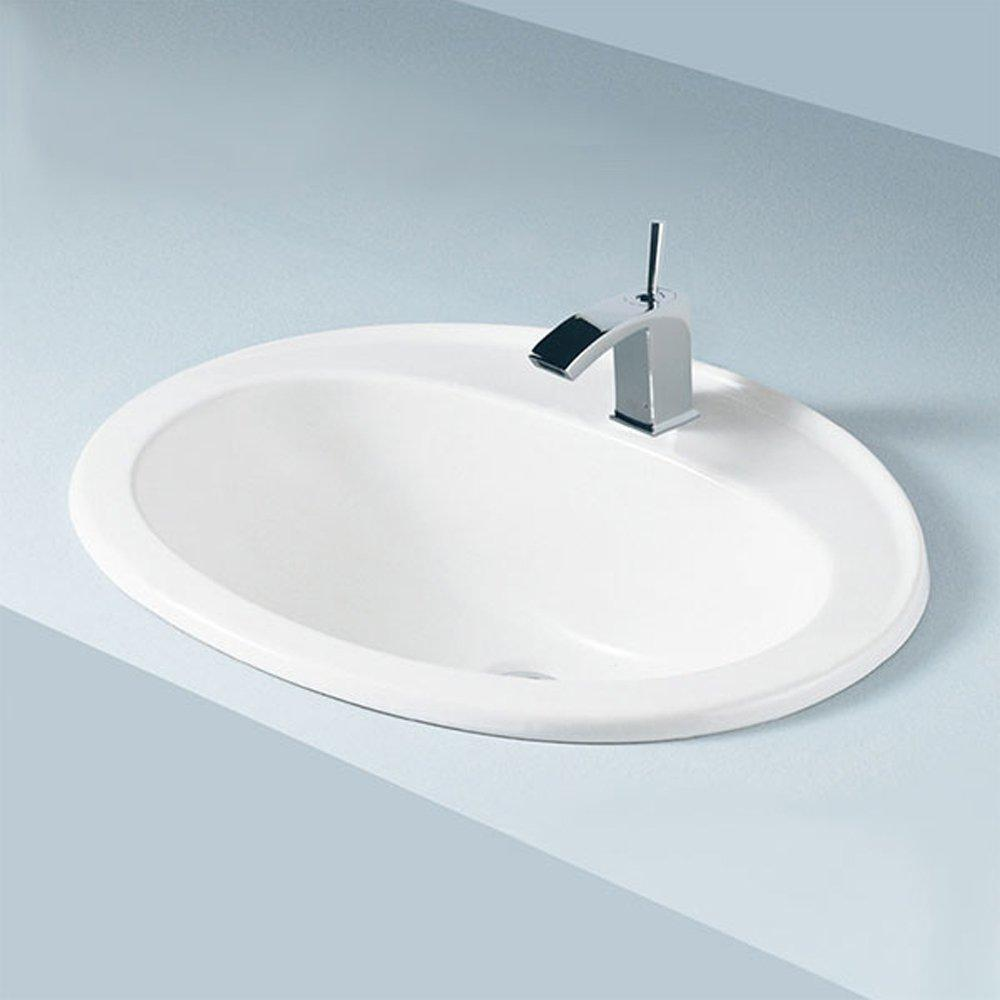 RAK Mira Inset Countertop Basin 560mm Wide - 1 Tap Hole