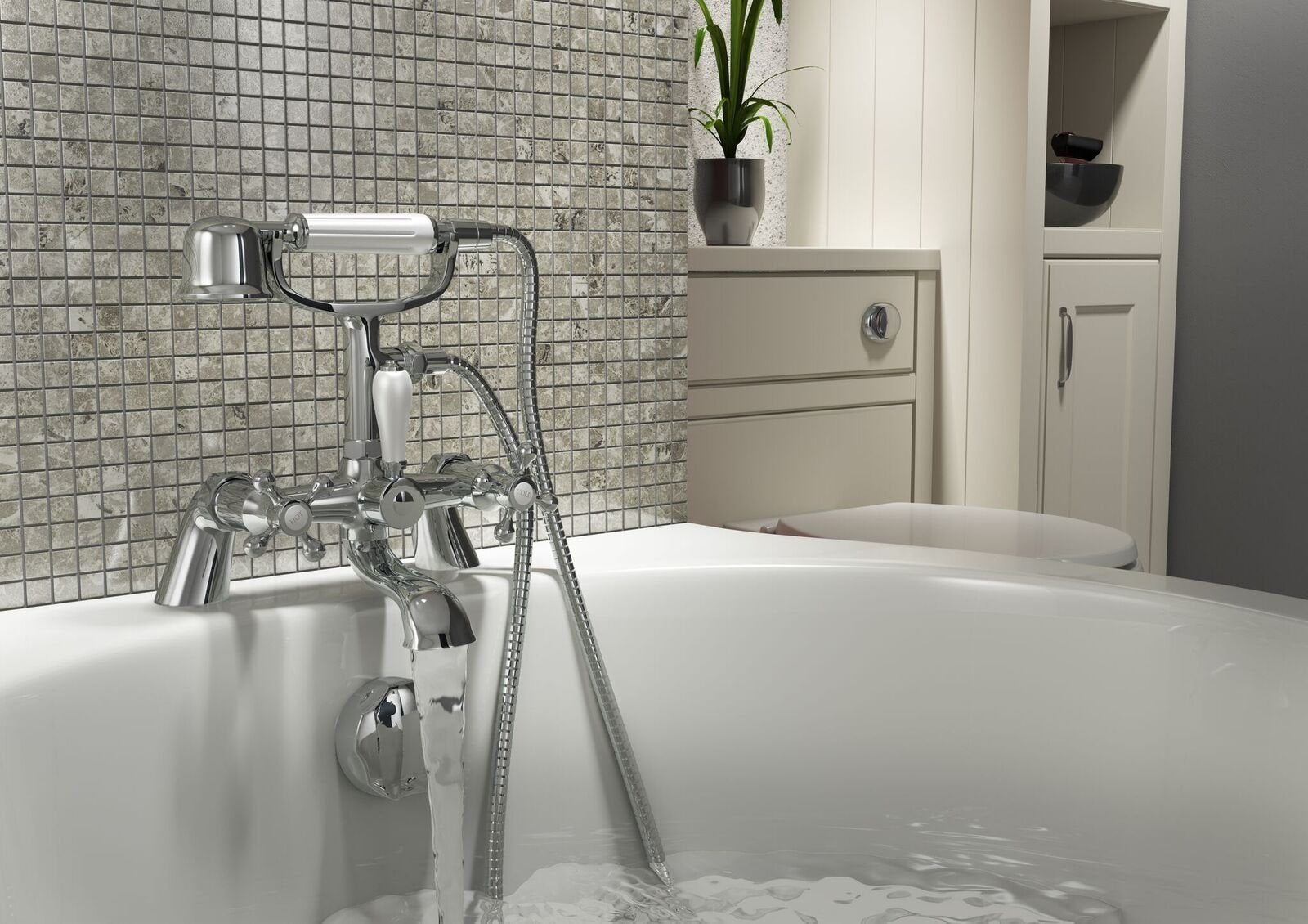 Cassellie Albert Bath Shower Mixer Tap - Chrome