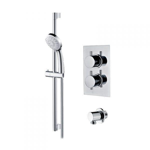 Abacus Emotion Thermostatic Round Shower & Riser Rail Kit