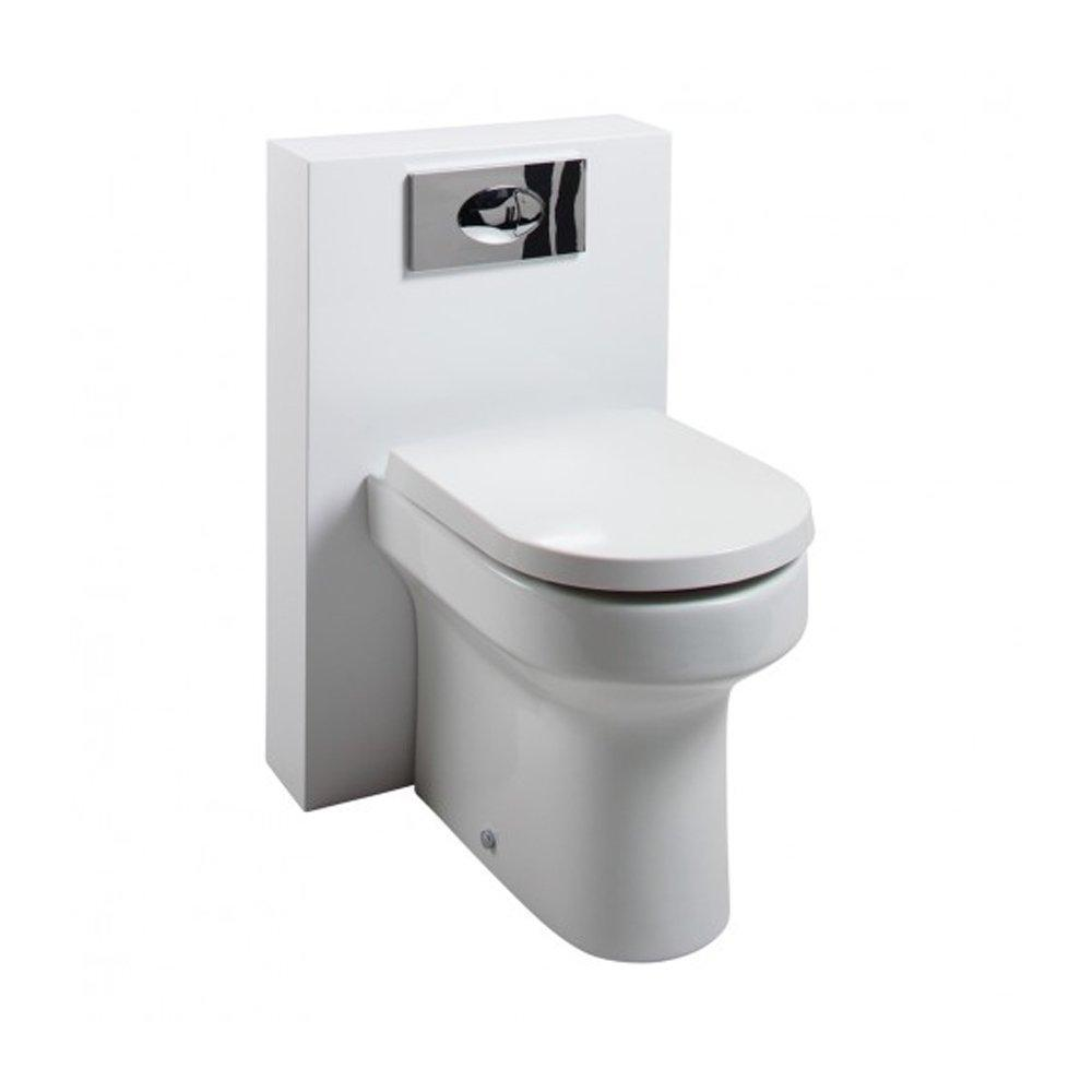 Cassellie Polymarble Shroud WC Unit with Montego Pan & Seat - 500mm Wide - Gloss White