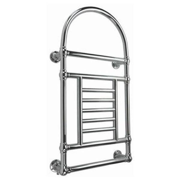 Cassellie Traditional Wall Hung Heated Towel Rail - 1000mm High x 533mm Wide - Chrome
