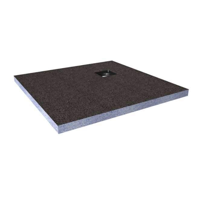 Abacus Direct Tileable Square Shower Tray 1200 x 1200mm Corner Drain