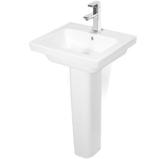 RAK Resort Wash Basin & Full Pedestal 650mm Wide 1 Tap Hole