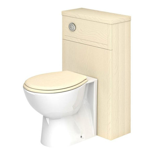 Essential HAMPSHIRE WC Unit, 500mm Wide x 252mm Deep, Mussel Ash