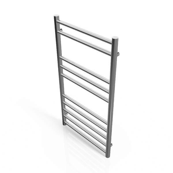 Cassellie Luxe Designer Heated Towel Rail - 800mm x 450mm - Chrome
