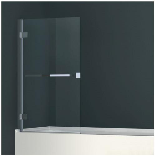 Abacus Elements - Minimal 1 Part Bath Screen With Towel Bar