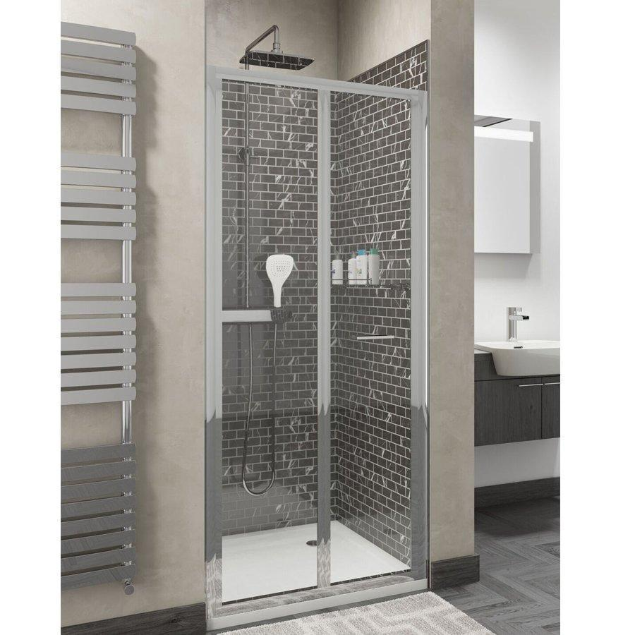 Cassellie Seis Bi-Fold Shower Door - 800mm Wide - 4mm Glass