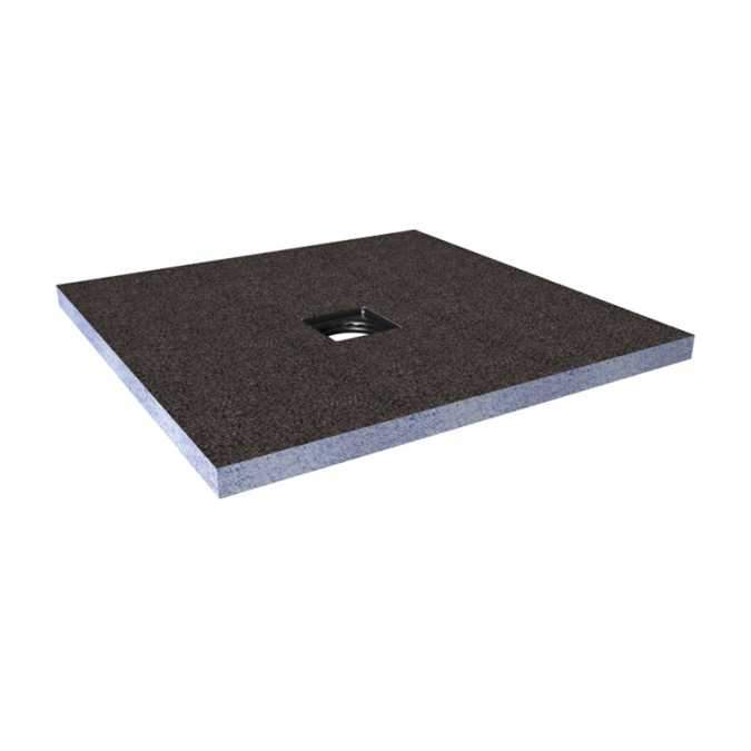 Abacus Direct Tileable Square Shower Tray 1000 x 1000mm Centre Drain