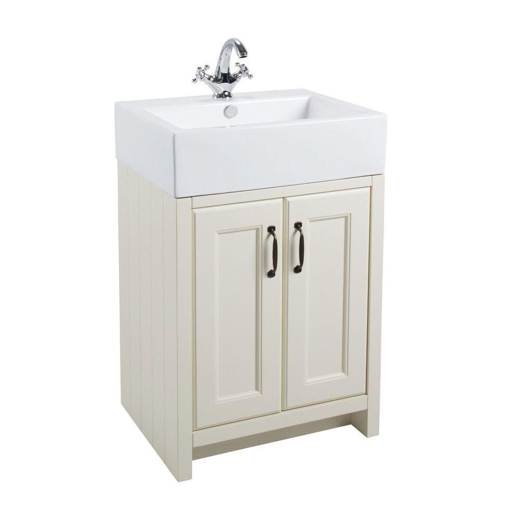 Cassellie Chartwell 2-Doors Vanity Unit with Basin - 810mm Wide - Vanilla