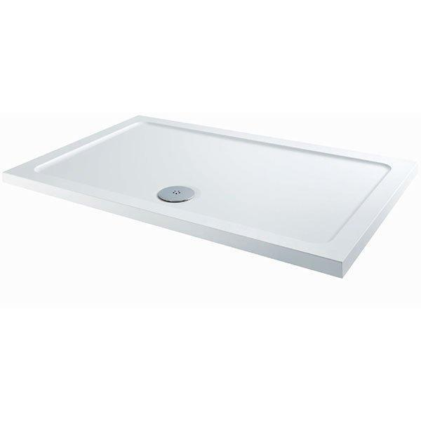 Cassellie C-Series Rectangular Shower Tray with Fast Flow Waste - 1700mm x 900mm - Stone Resin